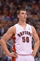 Oct 21, 2013; Toronto, Ontario, CAN; Toronto Raptors power forward Tyler Hansbrough (50) on the floor during the second half of a game against the New York Knicks at the Air Canada Centre.Toronto won the game in overtime123-120. Mandatory Credit: Mark Konezny-USA TODAY Sports
