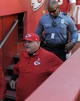 Oct 27, 2013; Kansas City, MO, USA; Kansas City Chiefs head coach Andy Reid leaves the field after the game against the Cleveland Browns at Arrowhead Stadium. The Chiefs won 23-17.  Mandatory Credit: Denny Medley-USA TODAY Sports