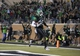 Oct 31, 2013; Denton, TX, USA; North Texas Mean Green linebacker Zach Orr (35) returns a fumble by Rice Owls running back Charles Ross (not pictured) for a touchdown during the first half at Apogee Stadium. Mandatory Credit: Jerome Miron-USA TODAY Sports