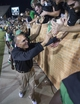 Oct 31, 2013; Denton, TX, USA; North Texas Mean Green head coach Dan McCarney celebrates with the fans after the win over the Rice Owls at Apogee Stadium. The Mean Green defeated the Owls 28-16. Mandatory Credit: Jerome Miron-USA TODAY Sports
