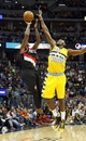 Nov 1, 2013; Denver, CO, USA; Denver Nuggets small forward Kenneth Faried (35) guards Portland Trail Blazers small forward Dorell Wright (1) in the first quarter at the Pepsi Center. Mandatory Credit: Isaiah J. Downing-USA TODAY Sports