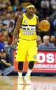 Nov 1, 2013; Denver, CO, USA; Denver Nuggets point guard Ty Lawson (3) controls the ball in the third quarter against the Portland Trail Blazers at the Pepsi Center. The Trail Blazers won 113-98. Mandatory Credit: Isaiah J. Downing-USA TODAY Sports
