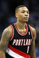 Nov 1, 2013; Denver, CO, USA; Portland Trail Blazers point guard Damian Lillard (0) in the second quarter against the Denver Nuggets at the Pepsi Center. The Trail Blazers won 113-98. Mandatory Credit: Isaiah J. Downing-USA TODAY Sports