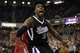 Nov 1, 2013; Sacramento, CA, USA; Sacramento Kings power forward Jason Thompson (34) celebrates after a dunk against the Los Angeles Clippers during the fourth quarter at Sleep Train Arena. The Los Angeles Clippers defeated the Sacramento Kings 110-101. Mandatory Credit: Kelley L Cox-USA TODAY Sports