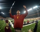 Nov 1, 2013; Corvallis, OR, USA; Southern California Trojans coach Ed Orgeron directs the Spirit of Troy marching band after the game against the Oregon State Beavers at Reser Stadium. USC defeated Oregon State 31-14.  Mandatory Credit: Kirby Lee-USA TODAY Sports
