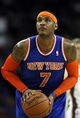 Oct 23, 2013; Green Bay, WI, USA; New York Knicks forward Carmelo Anthony (7) attempts to make a free throw as his team plays the Milwaukee Bucks at the Resch Center in Green Bay. The Bucks defeated the Knicks 105-95. Mandatory Credit: Mary Langenfeld-USA TODAY Sports