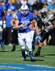 Nov 2, 2013; Colorado Springs, CO, USA; Air Force Falcons quarterback Nate Romine (6) runs with the football in the first quarter against the Army Black Knights at Falcon Stadium. Mandatory Credit: Ron Chenoy-USA TODAY Sports