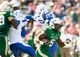 Nov 2, 2013; Birmingham, AL, USA;  UAB Blazers running back Darrin Reaves (5) carries the ball against the Middle Tennessee State Blue Raiders at Legion Field. Mandatory Credit: Marvin Gentry-USA TODAY Sports