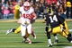 Nov 2, 2013; Iowa City, IA, USA; Wisconsin Badgers tight end Jacob Petersen (48) is brought down from behind against theIowa Hawkeyes at Kinnick Stadium. Mandatory Credit: Reese Strickland-USA TODAY Sports
