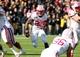 Nov 2, 2013; Iowa City, IA, USA;  Wisconsin Badgers running back Melvin Gordon (25) runs the football against the Iowa Hawkeyes at Kinnick Stadium.  Wisconsin beat Iowa 28-9.  Mandatory Credit: Reese Strickland-USA TODAY Sports