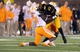 Nov 2, 2013; Columbia, MO, USA; Missouri Tigers wide receiver Marcus Lucas (85) catches a pass and is tackled by Tennessee Volunteers linebacker Dontavis Sapp (41) during the first half of the game at Faurot Field. Mandatory Credit: Denny Medley-USA TODAY Sports