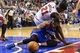 Nov 2, 2013; Philadelphia, PA, USA; Philadelphia 76ers forward Thaddeus Young (21) and Chicago Bulls guard Jimmy Butler (21) scramble for a loose ball during the fourth quarter at Wells Fargo Center. The Sixers defeated the Bulls 107-104. Mandatory Credit: Howard Smith-USA TODAY Sports