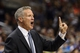 Nov 2, 2013; Philadelphia, PA, USA; Philadelphia 76ers head coach Brett Brown during the third quarter against the Chicago Bulls at Wells Fargo Center. The Sixers defeated the Bulls 107-104. Mandatory Credit: Howard Smith-USA TODAY Sports