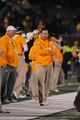 Nov 2, 2013; Columbia, MO, USA; Tennessee Volunteers head coach Butch Jones watches play on the sidelines during the second half of the game against the Missouri Tigers at Faurot Field. Missouri won 31-3. Mandatory Credit: Denny Medley-USA TODAY Sports