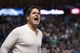 Nov 2, 2013; Dallas, TX, USA; Dallas Mavericks owner Mark Cuban reacts to a referee call during the second half against the Memphis Grizzlies at the American Airlines Center. The Mavericks defeated the Grizzlies 111-99. Mandatory Credit: Jerome Miron-USA TODAY Sports