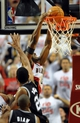 Nov 2, 2013; Portland, OR, USA; Portland Trail Blazers shooting guard Wesley Matthews (2) dunks the ball on San Antonio Spurs power forward Tim Duncan (21) during the fourth quarter of the game at  the Moda Center. The Blazers won the game 115-105. Mandatory Credit: Steve Dykes-USA TODAY Sports
