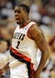 Nov 2, 2013; Portland, OR, USA; Portland Trail Blazers shooting guard Wesley Matthews (2) celebrates after dunking the ball during the fourth quarter of the game at  the Moda Center. The Blazers won the game 115-105. Mandatory Credit: Steve Dykes-USA TODAY Sports