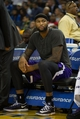 Nov 2, 2013; Oakland, CA, USA; Sacramento Kings center DeMarcus Cousins (15) on the bench against the Golden State Warriors during the fourth quarter at Oracle Arena. The Golden State Warriors defeated the Sacramento Kings 98-87. Mandatory Credit: Kelley L Cox-USA TODAY Sports