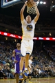 Nov 2, 2013; Oakland, CA, USA; Golden State Warriors power forward David Lee (10) dunks the ball against the Sacramento Kings during the fourth quarter at Oracle Arena. The Golden State Warriors defeated the Sacramento Kings 98-87. Mandatory Credit: Kelley L Cox-USA TODAY Sports