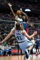 Nov 3, 2013; Auburn Hills, MI, USA; Detroit Pistons shooting guard Rodney Stuckey (3) fouls Boston Celtics power forward Kelly Olynyk (41) during the fourth quarter at The Palace of Auburn Hills. Detroit won 87-77. Mandatory Credit: Tim Fuller-USA TODAY Sports
