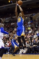 Nov 4, 2013; Philadelphia, PA, USA; Golden State Warriors guard Kent Bazemore (20) shoots a jump shot during the fourth quarter against the Philadelphia 76ers at Wells Fargo Center. The Warriors defeated the Sixers 110-90. Mandatory Credit: Howard Smith-USA TODAY Sports