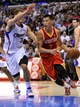 November 4, 2013; Los Angeles, CA, USA; Houston Rockets point guard Jeremy Lin (7) moves the ball against Los Angeles Clippers during the first half at Staples Center. Mandatory Credit: Gary A. Vasquez-USA TODAY Sports