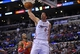 November 4, 2013; Los Angeles, CA, USA; Los Angeles Clippers center Byron Mullens (0) dunks to score a basket against Houston Rockets during the second half at Staples Center. Mandatory Credit: Gary A. Vasquez-USA TODAY Sports