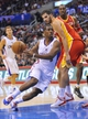 November 4, 2013; Los Angeles, CA, USA; Los Angeles Clippers point guard Chris Paul (3) moves the ball against the defense of Houston Rockets small forward Omri Casspi (18) during the second half at Staples Center. Mandatory Credit: Gary A. Vasquez-USA TODAY Sports