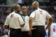 Oct 30, 2013; Auburn Hills, MI, USA; NBA referees Tom Washington (49) and Karl Lane (77) and Michael Smith (38) during the game between the Detroit Pistons and the Washington Wizards at The Palace of Auburn Hills. Pistons won 113-102. Mandatory Credit: Tim Fuller-USA TODAY Sports