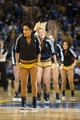 Nov 2, 2013; Oakland, CA, USA; Golden State Warriors dancers perform during a timeout against the Sacramento Kings during the fourth quarter at Oracle Arena. The Golden State Warriors defeated the Sacramento Kings 98-87. Mandatory Credit: Kelley L Cox-USA TODAY Sports