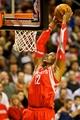 Nov 5, 2013; Portland, OR, USA; Houston Rockets center Dwight Howard (12) dunks against the Portland Trail Blazers at the Moda Center. Mandatory Credit: Craig Mitchelldyer-USA TODAY Sports