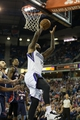 Nov 5, 2013; Sacramento, CA, USA; Sacramento Kings center DeMarcus Cousins (15) goes up for a basket against the Atlanta Hawks during the fourth quarter at Sleep Train Arena. The Atlanta Hawks defeated the Sacramento Kings 105-100. Mandatory Credit: Kelley L Cox-USA TODAY Sports