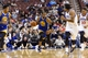Nov 4, 2013; Philadelphia, PA, USA; Golden State Warriors guard Andre Iguodala (9) brings the ball up court during the third quarter against the Philadelphia 76ers at Wells Fargo Center. The Warriors defeated the Sixers 110-90. Mandatory Credit: Howard Smith-USA TODAY Sports