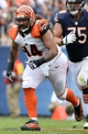 Sep 8, 2013; Chicago, IL, USA; Cincinnati Bengals defensive tackle Domata Peko (94) during the fourth quarter against the Chicago Bears at Soldier Field. Chicago defeated Cincinnati 24-21. Mandatory Credit: Mike DiNovo-USA TODAY Sports