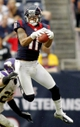 Dec 23, 2012; Houston, TX, USA; Houston Texans wide receiver DeVier Posey (11) attempts to catch a pass against the Minnesota Vikings in the fourth quarter at Reliant Stadium. The Vikings defeated the Texans 23-6. Mandatory Credit: Brett Davis-USA TODAY Sports