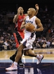 Nov 6, 2013; Charlotte, NC, USA; Charlotte Bobcats guard Gerald Henderson (9) drives to the basket during the game against the Toronto Raptors at Time Warner Cable Arena. Bobcats win 92-90. Mandatory Credit: Sam Sharpe-USA TODAY Sports