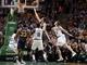 Nov 6, 2013; Boston, MA, USA; Utah Jazz small forward Gordon Hayward (20) drives the ball to the basket against Boston Celtics power forward Jeff Green (8) in the second half at TD Garden. The Celtics defeated the Jazz 97-87. Mandatory Credit: David Butler II-USA TODAY Sports