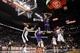 Nov 6, 2013; San Antonio, TX, USA; Phoenix Suns guard Gerald Green (14) dunks during the second half against the San Antonio Spurs at AT&T Center. The Spurs won 99-96. Mandatory Credit: Soobum Im-USA TODAY Sports