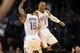 Nov 6, 2013; Oklahoma City, OK, USA; Oklahoma City Thunder point guard Russell Westbrook (0) celebrates with point guard Reggie Jackson (15) after a made basket against the Dallas Mavericks during the second quarterat Chesapeake Energy Arena. Mandatory Credit: Mark D. Smith-USA TODAY Sports