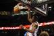 Nov 6, 2013; Oklahoma City, OK, USA; Oklahoma City Thunder small forward Kevin Durant (35) dunks the ball against the Dallas Mavericks during the third quarter at Chesapeake Energy Arena. Mandatory Credit: Mark D. Smith-USA TODAY Sports