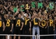 Nov 7, 2013; Waco, TX, USA; Baylor Bears student section cheers prior to the game against the Oklahoma Sooners at Floyd Casey Stadium. Mandatory Credit: Matthew Emmons-USA TODAY Sports