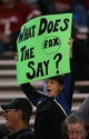 Nov 7, 2013; Waco, TX, USA; Baylor Bears fan holds up a sign prior to the game against the Oklahoma Sooners at Floyd Casey Stadium. Mandatory Credit: Matthew Emmons-USA TODAY Sports