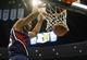 Nov 7, 2013; Denver, CO, USA;  Atlanta Hawks center Al Horford (15) dunks the ball during the second half against the Denver Nuggets at Pepsi Center. The Nuggets won 109-107. Mandatory Credit: Chris Humphreys-USA TODAY Sports