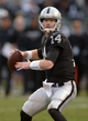 Nov 3, 2013; Oakland, CA, USA; Oakland Raiders quarterback Matt McGloin (14) throws a pass during the game against the Philadelphia Eagles at O.co Coliseum. The Eagles defeated the Raiders 49-20. Mandatory Credit: Kirby Lee-USA TODAY Sports
