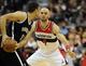 Nov 8, 2013; Washington, DC, USA; Washington Wizards center Marcin Gortat (4) defends Brooklyn Nets center Brook Lopez (11) during the first half at the Verizon Center. Mandatory Credit: Brad Mills-USA TODAY Sports