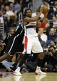Nov 8, 2013; Washington, DC, USA; Washington Wizards power forward Nene Hilario (42) looks to pass against the Brooklyn Nets during the second half at the Verizon Center. The Wizards defeated the Nets 112 - 108. Mandatory Credit: Brad Mills-USA TODAY Sports