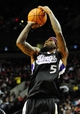 Nov 8, 2013; Portland, OR, USA; Sacramento Kings small forward John Salmons (5) shoots the ball during the first quarter of the game against the Portland Trail Blazers at the Moda Center. Mandatory Credit: Steve Dykes-USA TODAY Sports