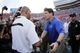 Nov 9, 2013; Gainesville, FL, USA; Florida Gators head coach Will Muschamp and Vanderbilt Commodores head coach James Franklin  greet at center field after the game at Ben Hill Griffin Stadium. Vanderbilt Commodores defeated the Florida Gators 34-17. Mandatory Credit: Kim Klement-USA TODAY Sports