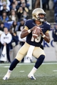 Nov 9, 2013; Annapolis, MD, USA; Navy Midshipmen quarterback Keenan Reynolds (19) drops back in the pocket during the first quarter of the Hawaii Warriors vs Navy Midshipmen game at Navy Marine Corps Memorial Stadium. Mandatory Credit: Tommy Gilligan-USA TODAY Sports