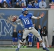 Nov 9, 2013; Memphis, TN, USA; Memphis Tigers quarterback Paxton Lynch (12) throws the ball against Tennessee Martin Skyhawks during the first quarter at Liberty Bowl Memorial. Mandatory Credit: Justin Ford-USA TODAY Sports